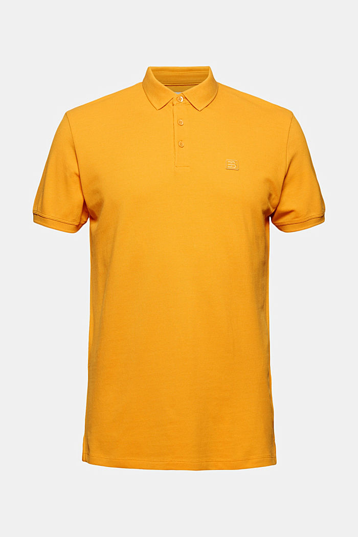 Piqué polo shirt in 100% organic cotton, SUNFLOWER YELLOW, detail image number 4