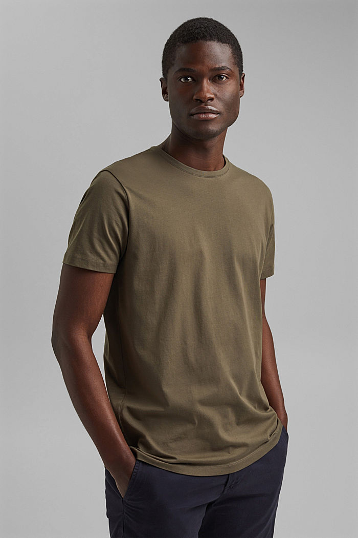 T-Shirts, DARK KHAKI, detail image number 0