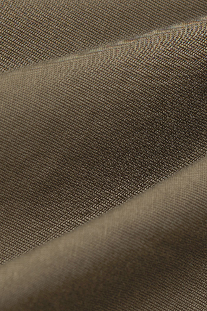Jersey-T-Shirt aus 100% Bio-Baumwolle, DARK KHAKI, detail image number 4