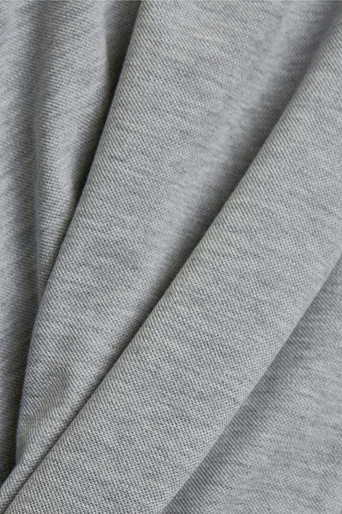 Piqué polo shirt in 100% organic cotton, LIGHT GREY, detail image number 5