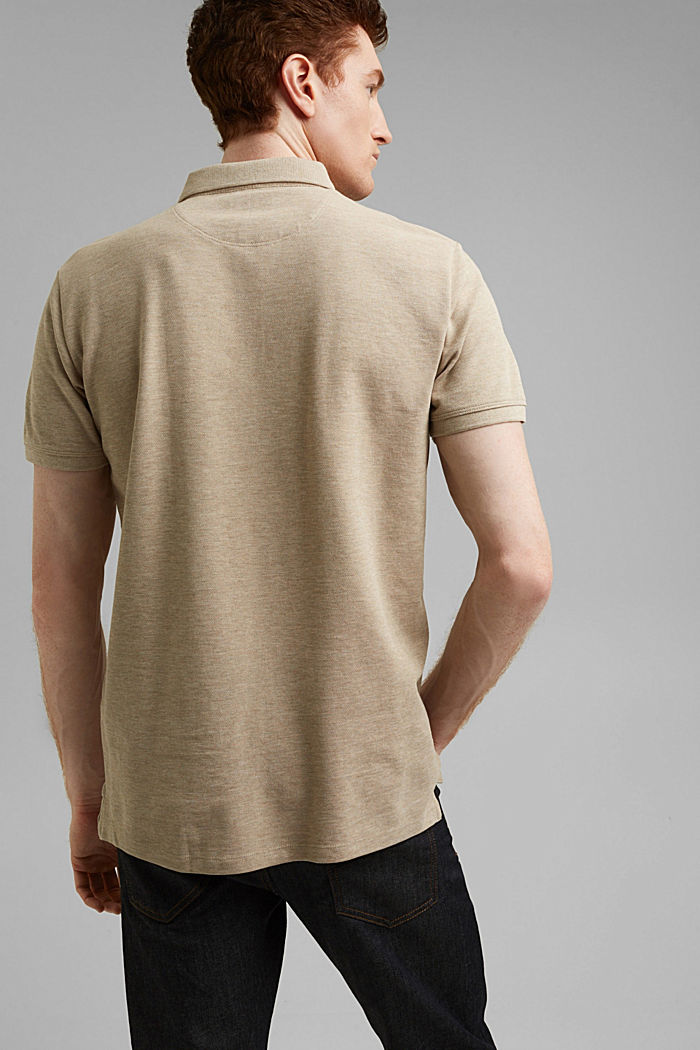 Piqué polo shirt in 100% organic cotton, BEIGE, detail image number 3