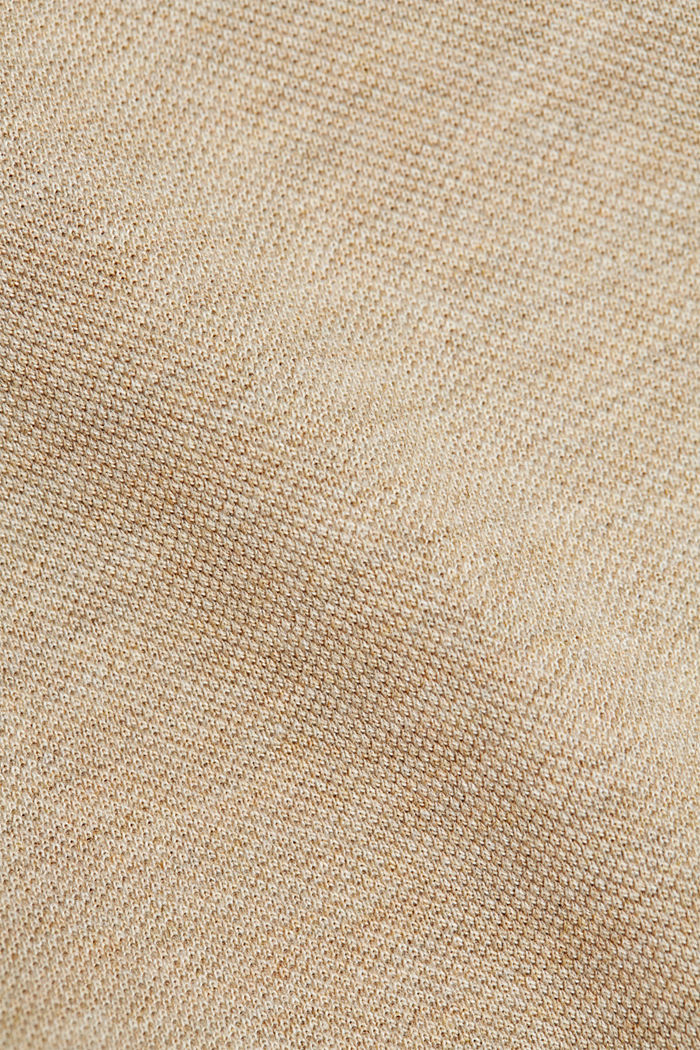 Piqué polo shirt in 100% organic cotton, BEIGE, detail image number 5