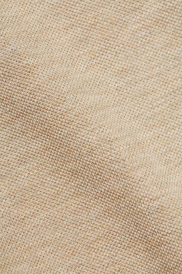 Piqué-Polo aus 100% Bio-Baumwolle, BEIGE, detail image number 5
