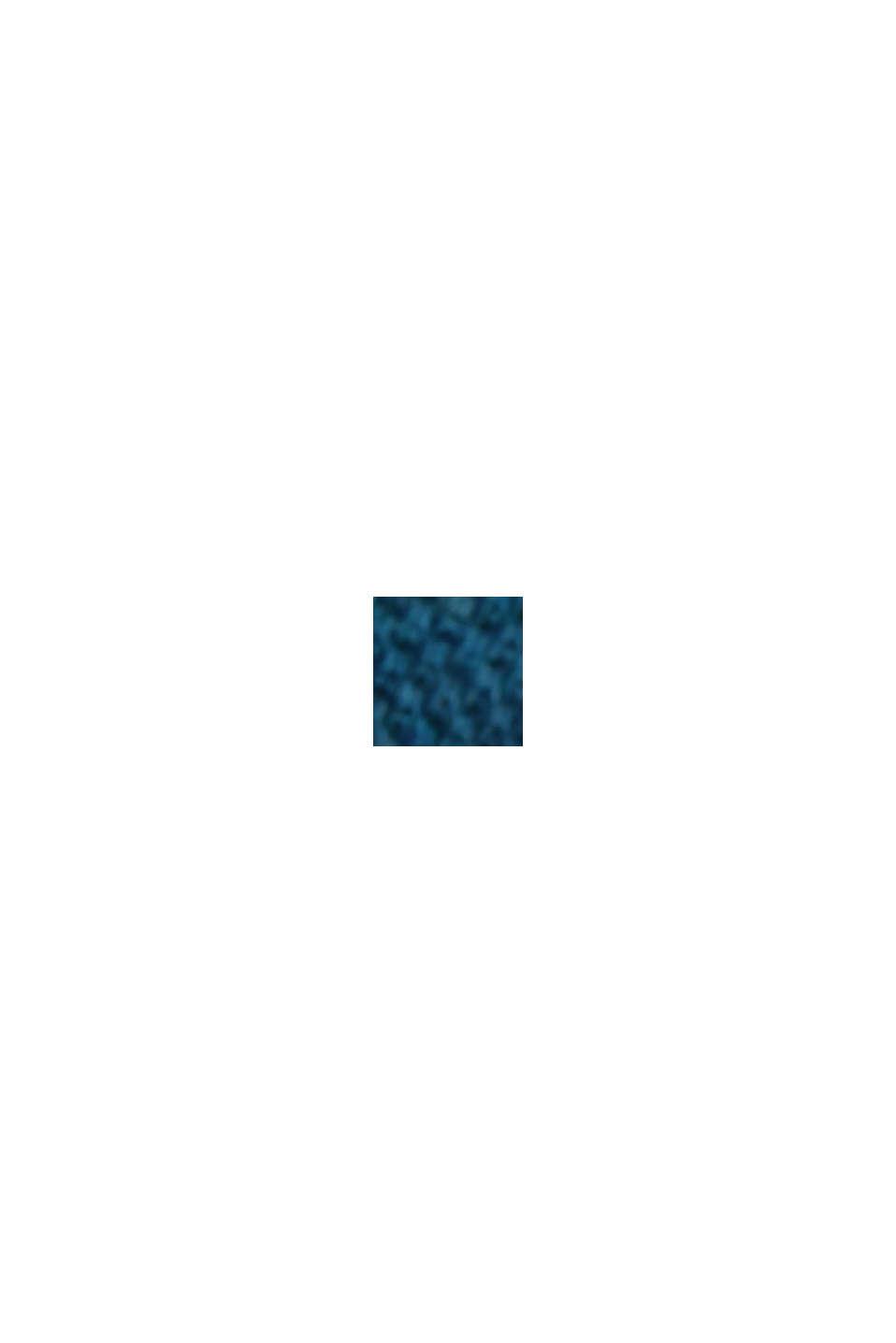 Polo in piqué di 100% cotone biologico, PETROL BLUE, swatch