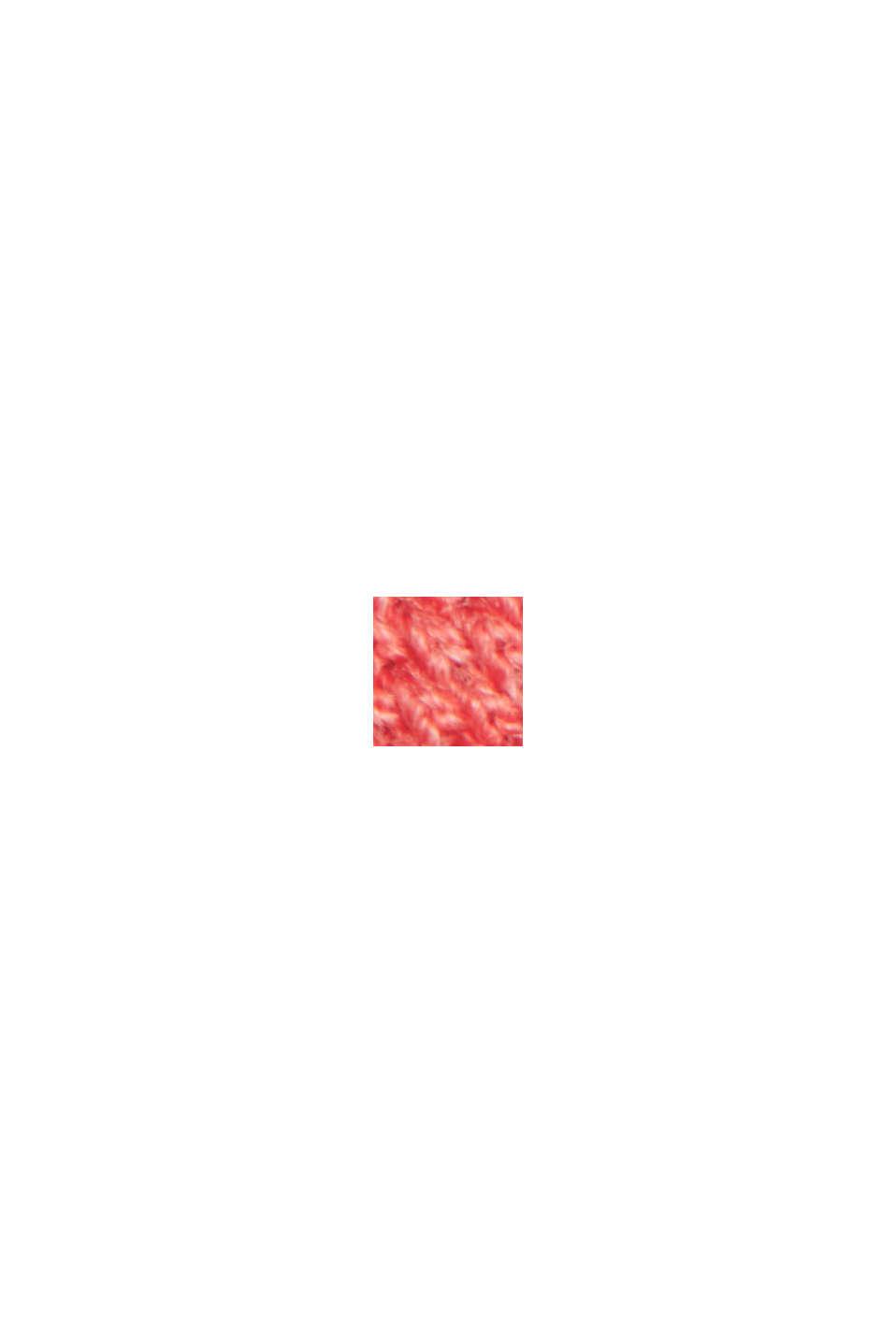 Tenniströja i piké av 100% ekobomull, CORAL RED, swatch