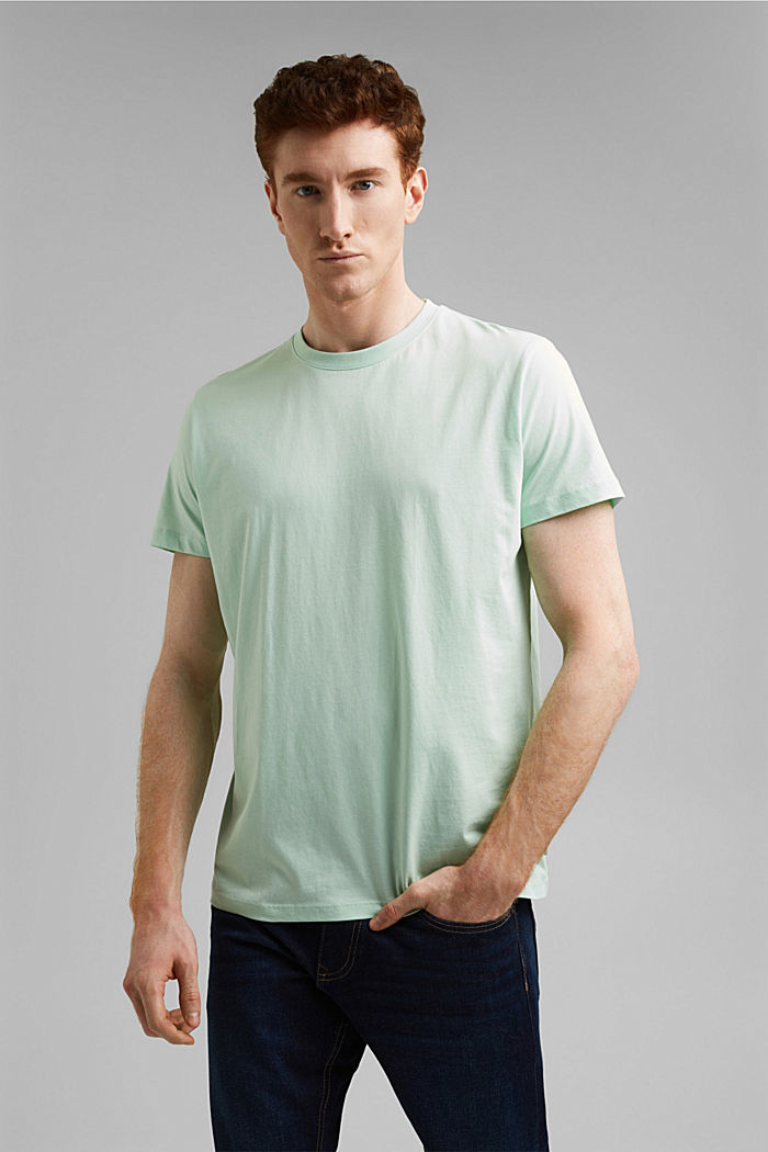 Jersey-T-Shirt aus 100% Organic Cotton, PASTEL GREEN, detail image number 0