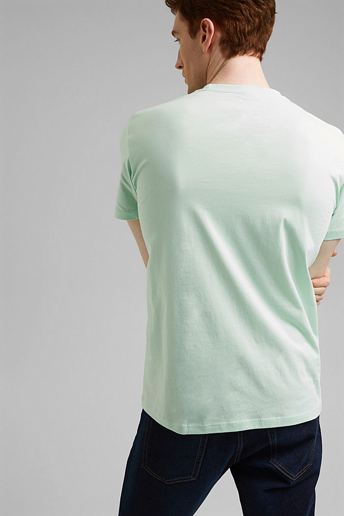 Jersey-T-Shirt aus 100% Organic Cotton, PASTEL GREEN, detail image number 3