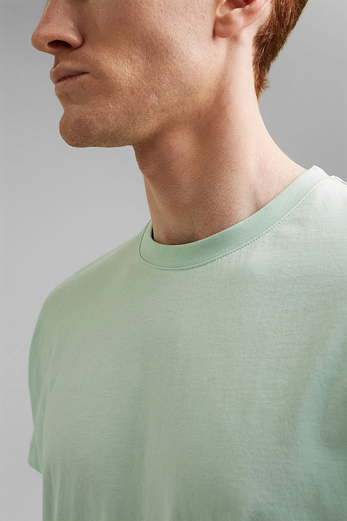 Jersey-T-Shirt aus 100% Organic Cotton, PASTEL GREEN, detail image number 1