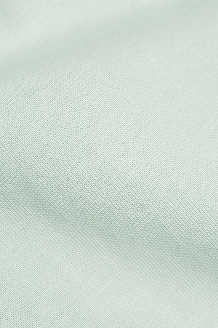 Jersey T-shirt van 100% organic cotton, PASTEL GREEN, detail image number 4