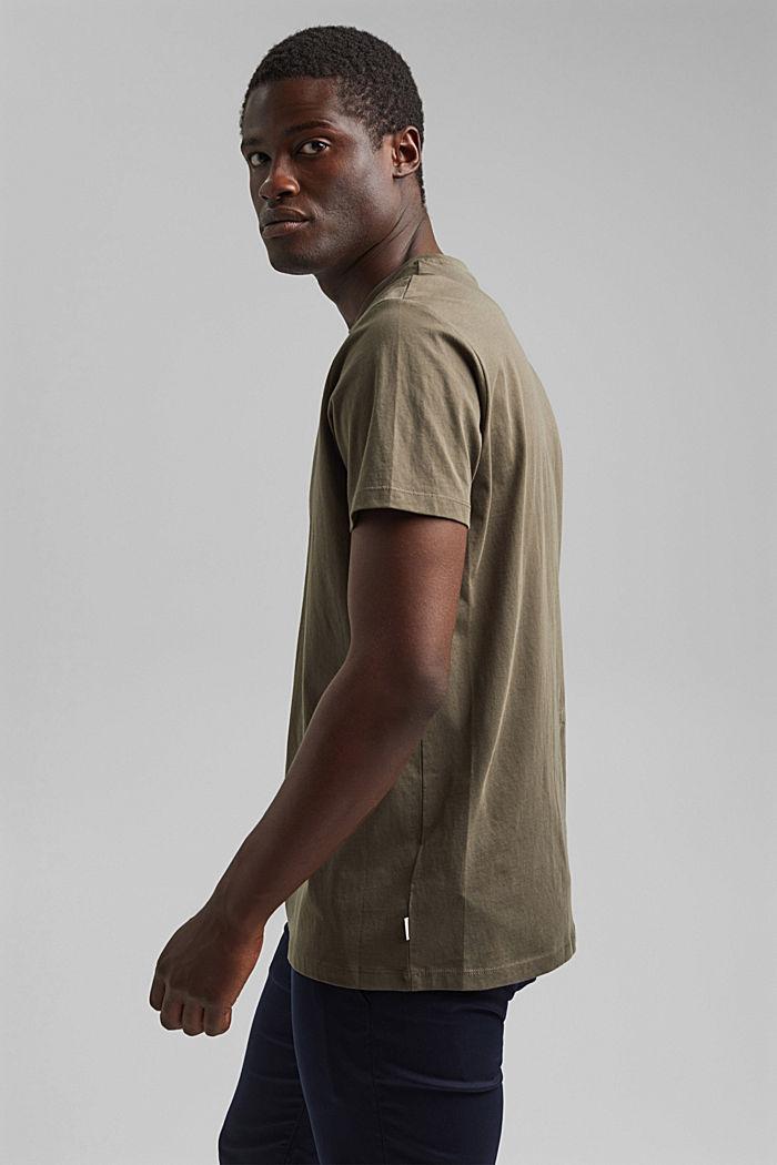 Jersey T-shirt made of 100% organic cotton, DARK KHAKI, detail image number 4