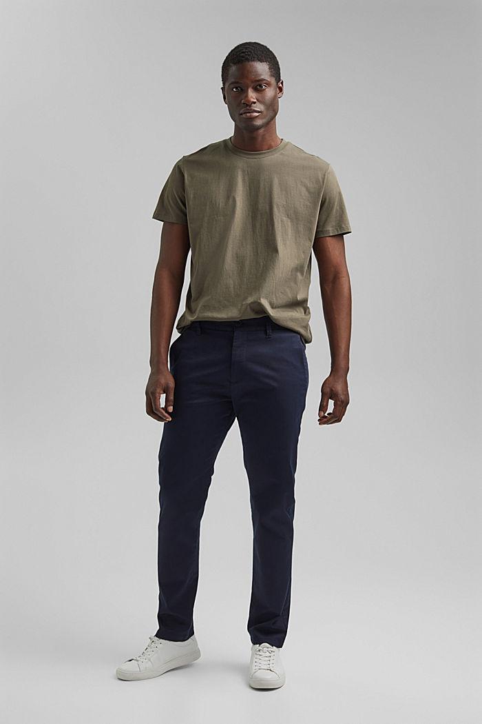 Jersey T-shirt made of 100% organic cotton, DARK KHAKI, detail image number 6