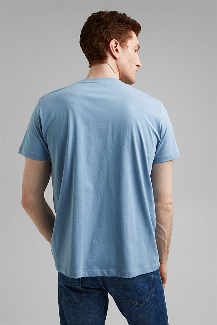Jersey T-shirt made of 100% organic cotton, GREY BLUE, detail image number 3