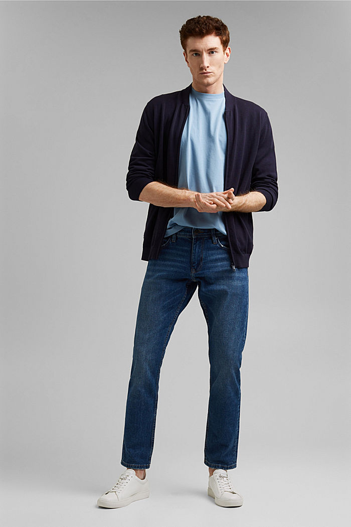 Jersey-T-Shirt aus 100% Organic Cotton, GREY BLUE, detail image number 2