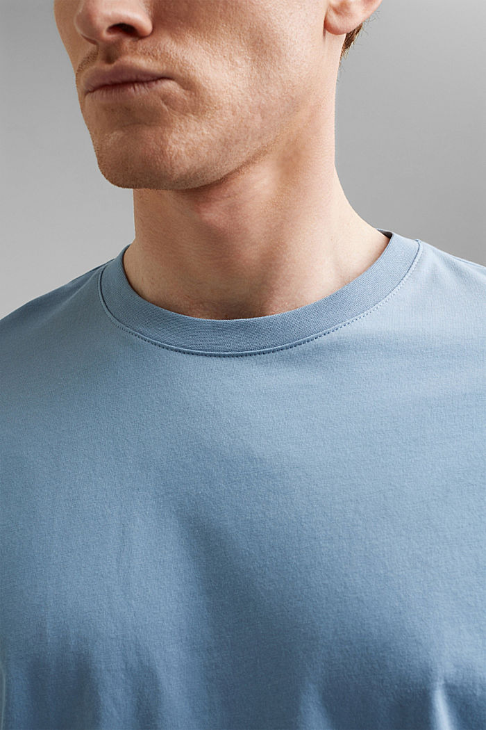 Jersey T-shirt made of 100% organic cotton, GREY BLUE, detail image number 1