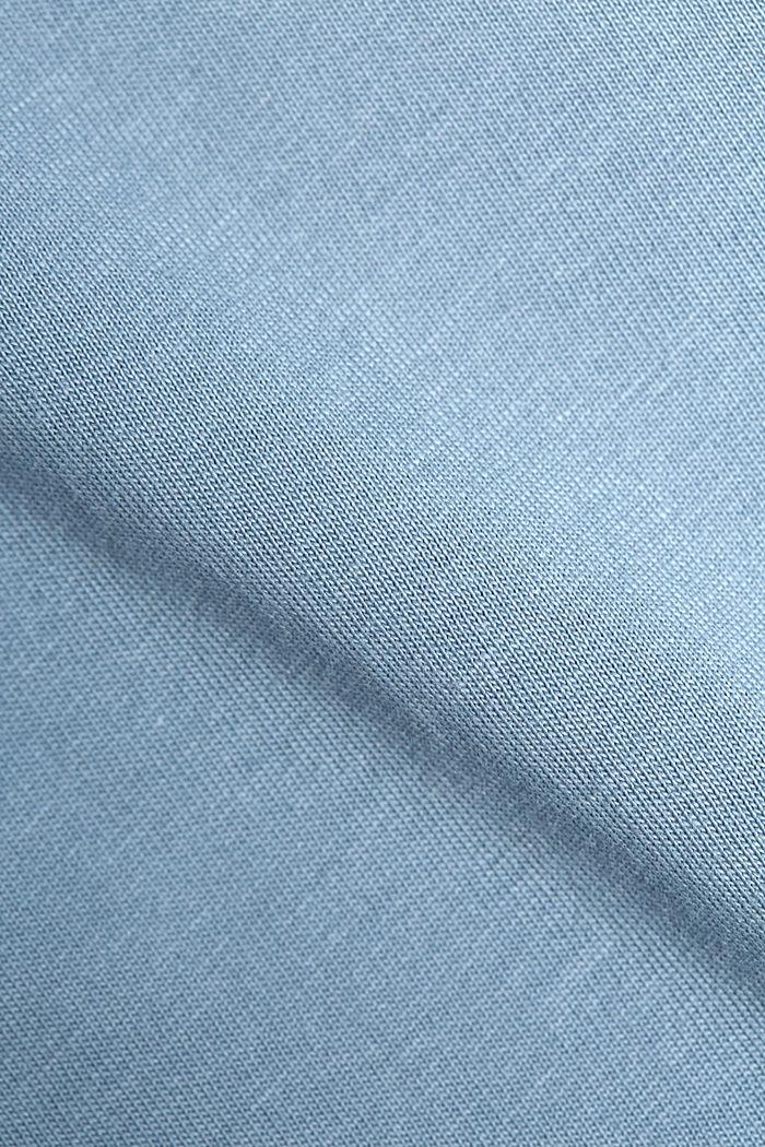 Jersey-T-Shirt aus 100% Organic Cotton, GREY BLUE, detail image number 5