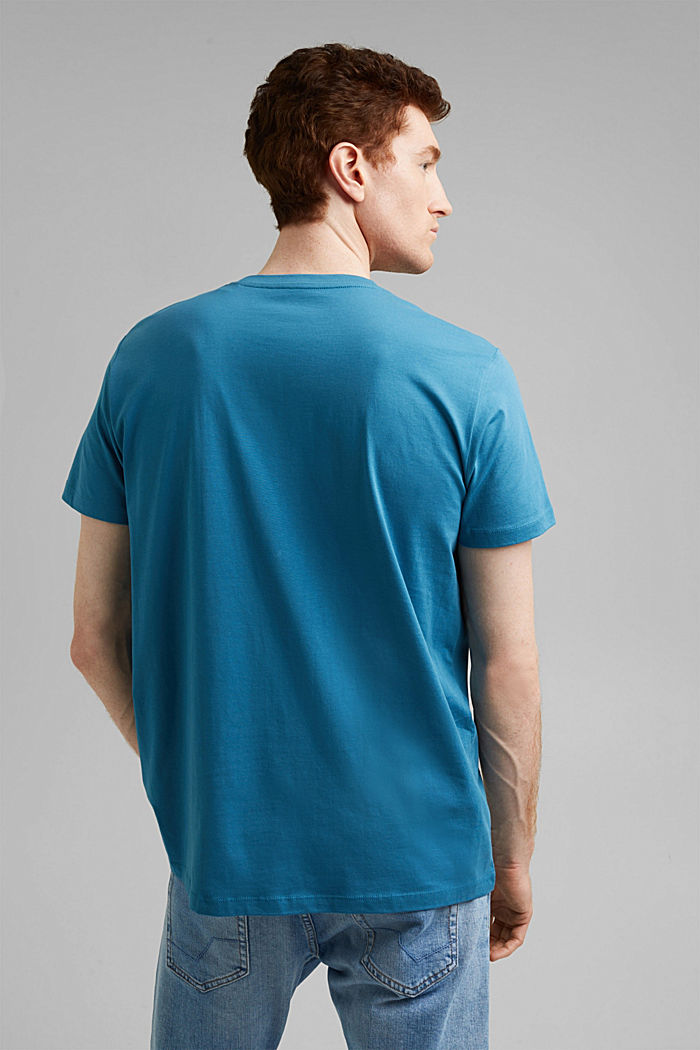 Jersey T-shirt made of 100% organic cotton, PETROL BLUE, detail image number 3
