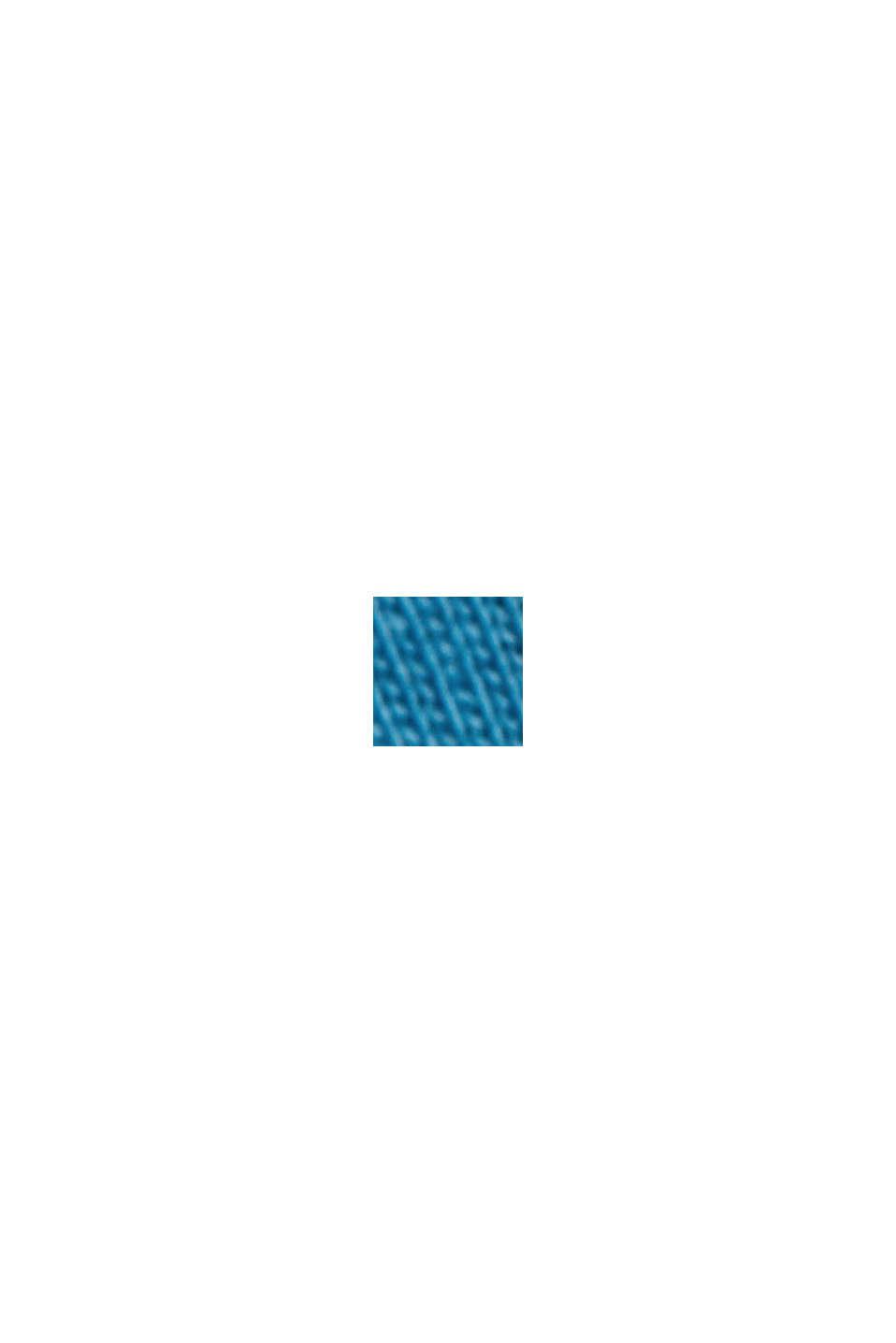 T-shirt en jersey, 100% coton bio, PETROL BLUE, swatch