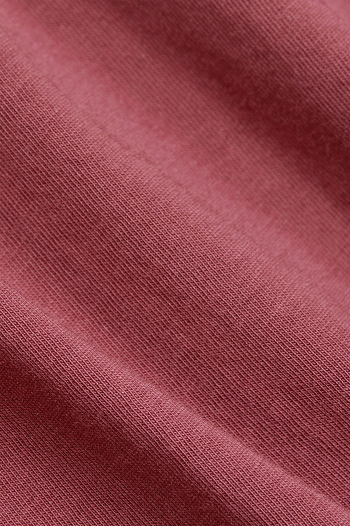 Jersey-T-Shirt aus 100% Organic Cotton, BERRY RED, detail image number 4