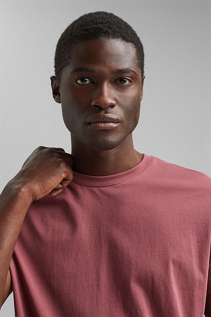 Jersey-T-Shirt aus 100% Organic Cotton, BERRY RED, detail image number 5
