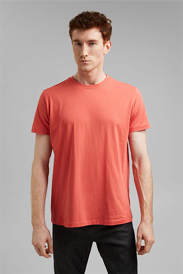 Jersey-T-Shirt aus 100% Organic Cotton, CORAL RED, detail image number 0