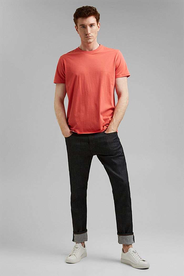 Jersey T-shirt made of 100% organic cotton, CORAL RED, detail image number 2