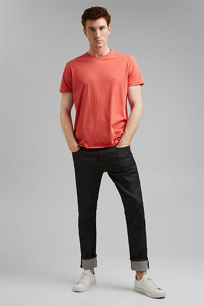 Jersey-T-Shirt aus 100% Organic Cotton, CORAL RED, detail image number 2