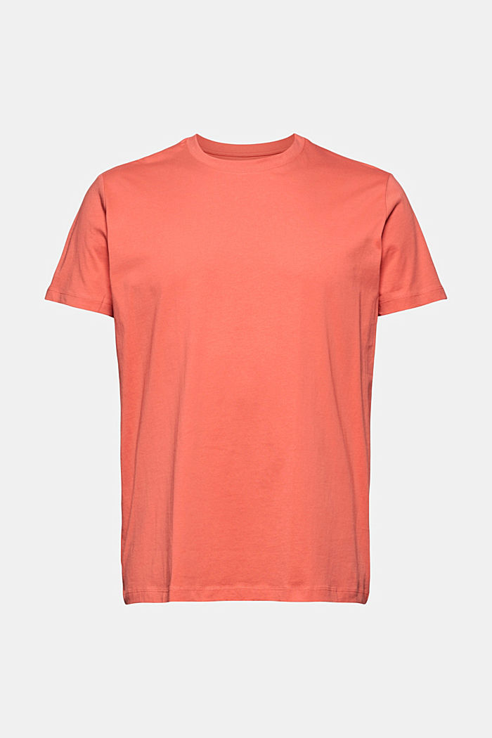 Jersey-T-Shirt aus 100% Organic Cotton, CORAL RED, detail image number 5