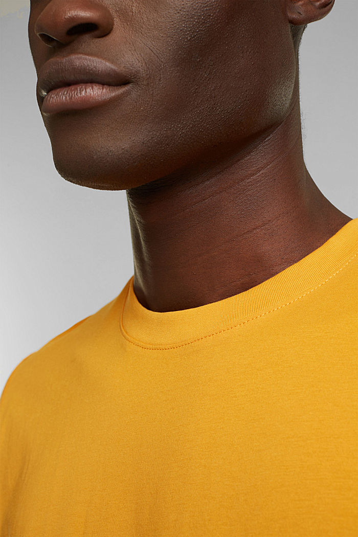 Jersey-T-Shirt aus 100% Organic Cotton, SUNFLOWER YELLOW, detail image number 1