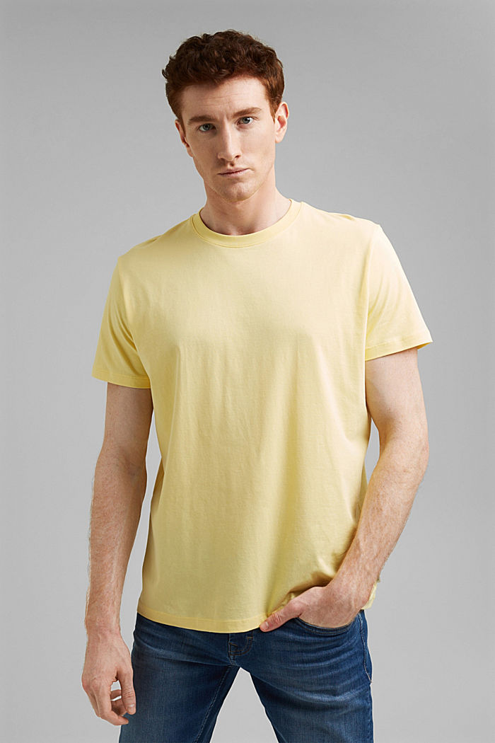 Jersey T-shirt made of 100% organic cotton, LIGHT YELLOW, detail image number 0