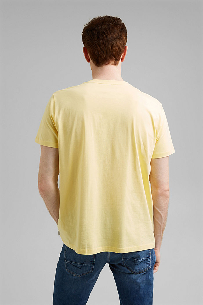 Jersey T-shirt made of 100% organic cotton, LIGHT YELLOW, detail image number 3
