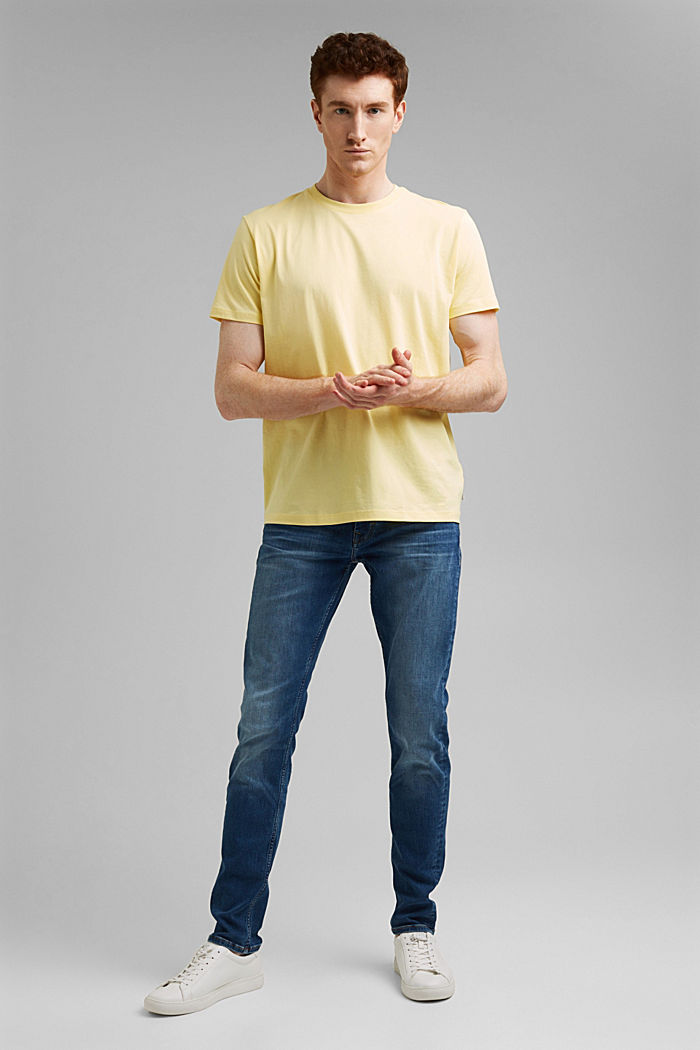 Jersey T-shirt made of 100% organic cotton, LIGHT YELLOW, detail image number 2