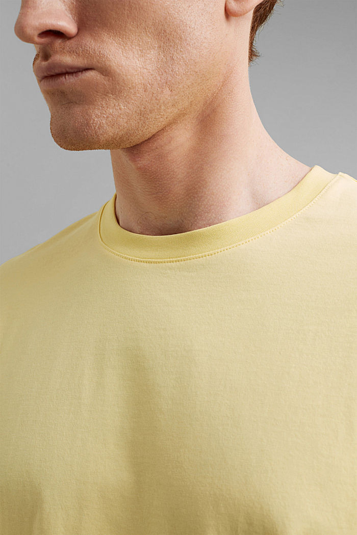 Jersey T-shirt made of 100% organic cotton, LIGHT YELLOW, detail image number 1