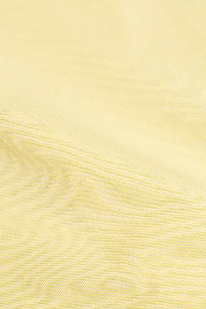 Jersey T-shirt made of 100% organic cotton, LIGHT YELLOW, detail image number 4