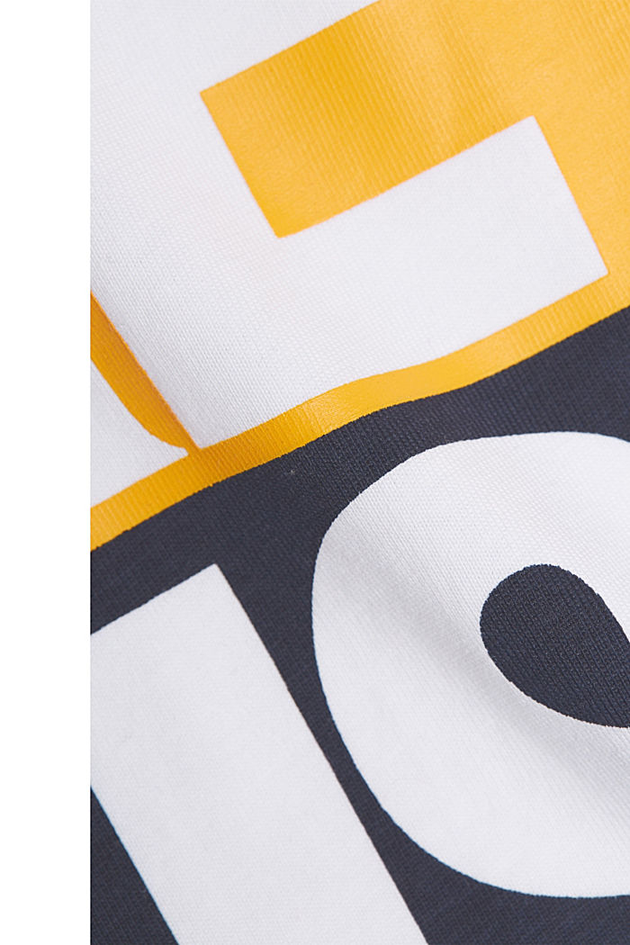 Printed T-shirt in 100% organic cotton, WHITE, detail image number 5