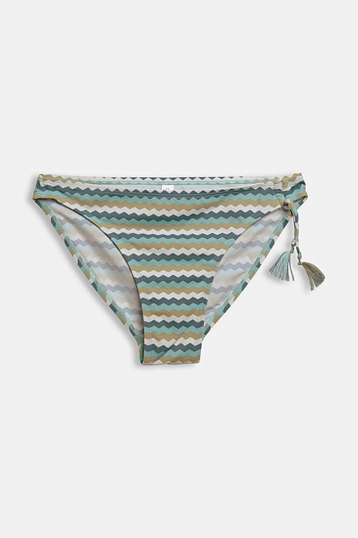Recycled: Mini briefs with a zigzag print
