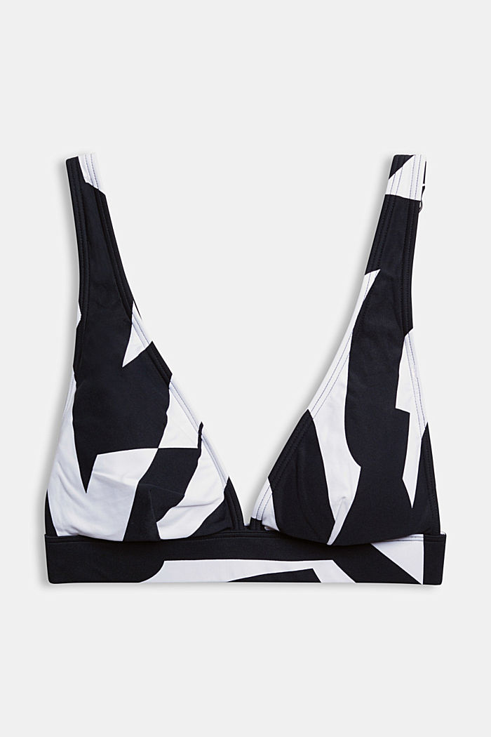 Padded top with a geometric print