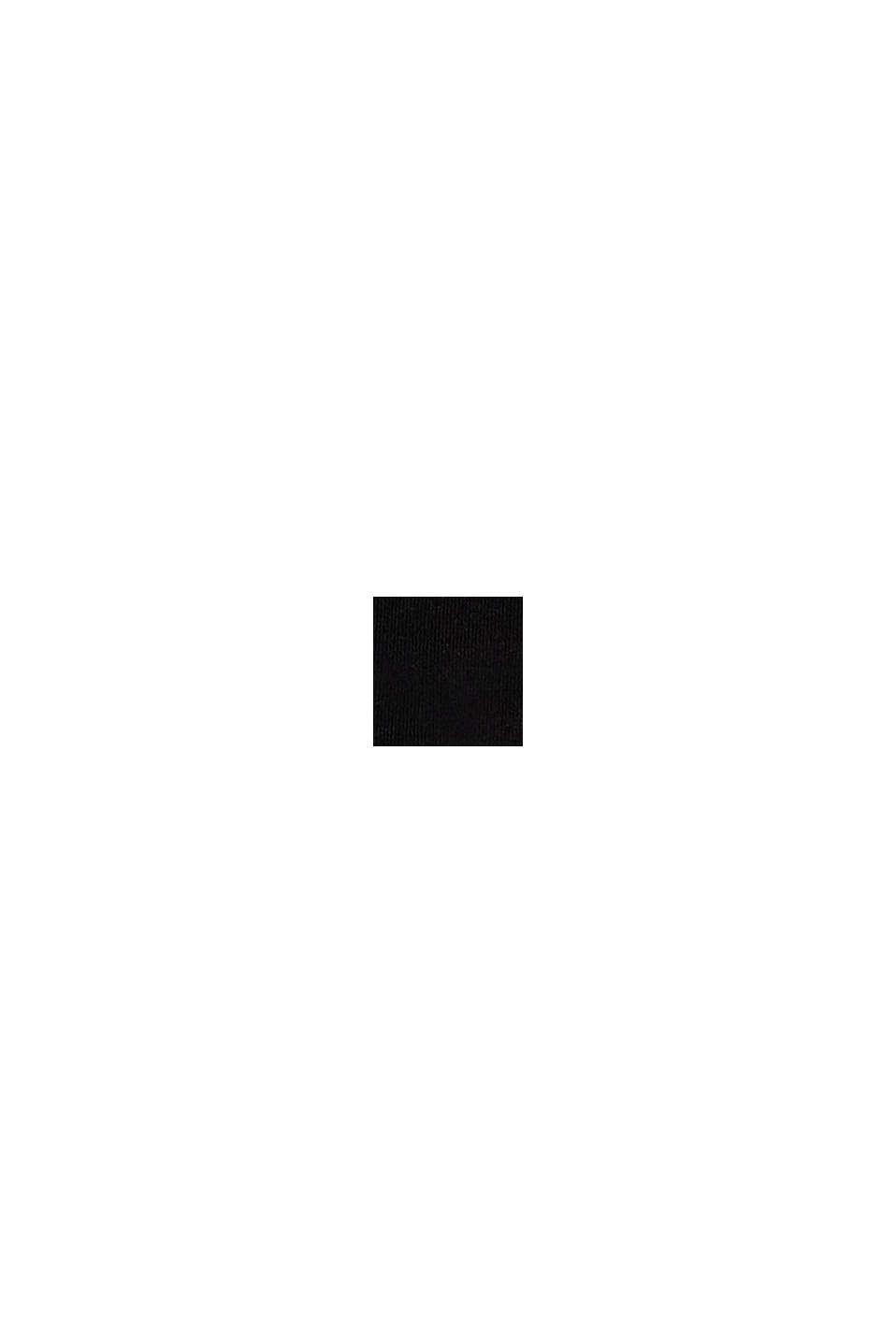 Återvunnet material: miditrosa med grafikmönster, BLACK, swatch