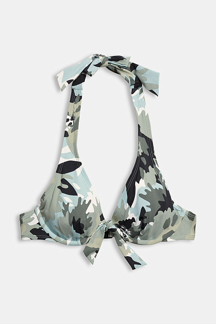Recycelt: Bügel-Top mit Camouflage-Print, LIGHT KHAKI, detail image number 4