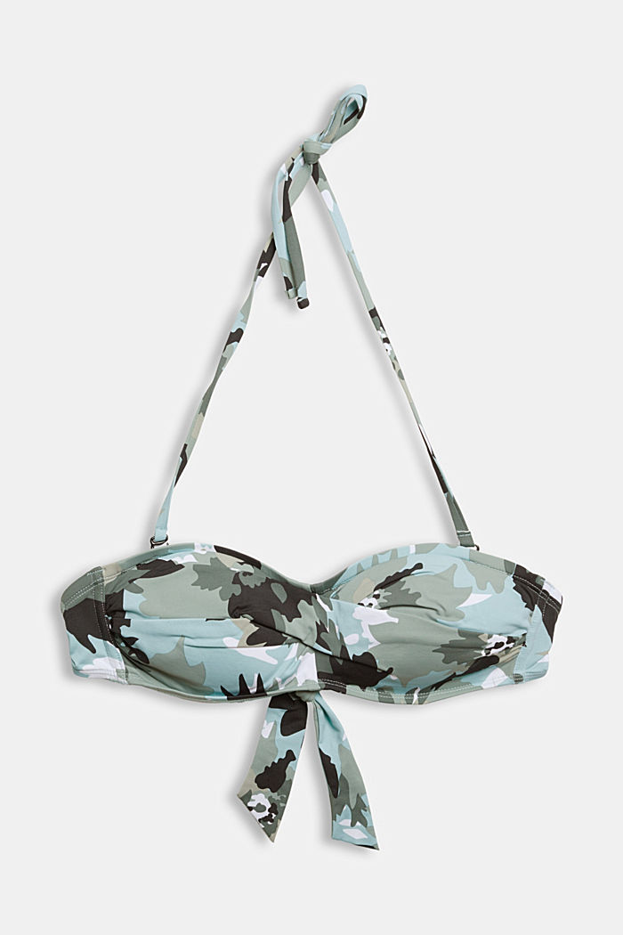 Recycled: Padded top with a camouflage print