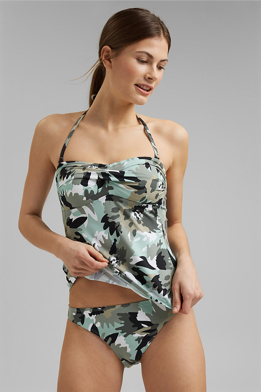 Recycled: padded tankini top