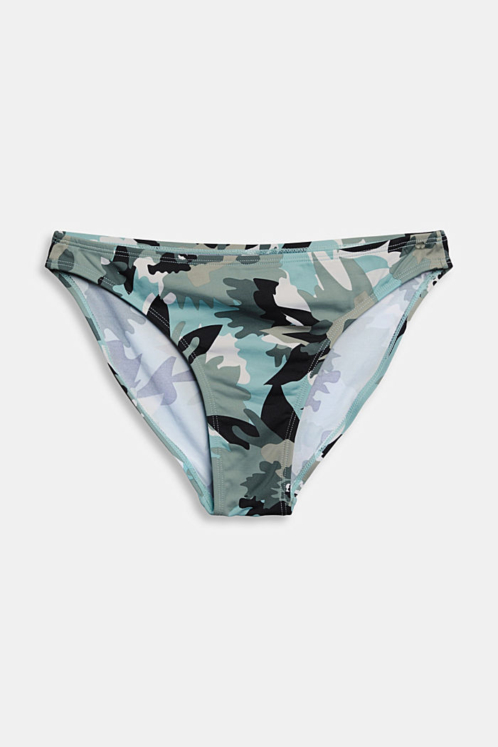 Recycled: mini briefs with a camouflage print