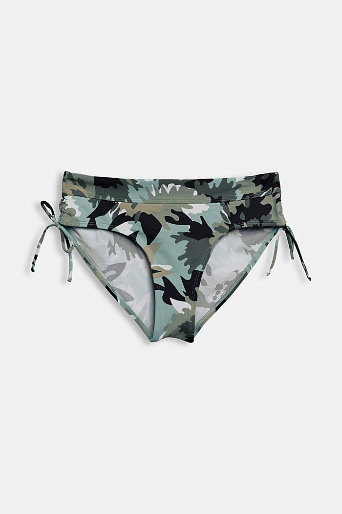 Recycled: midi briefs with a camouflage print