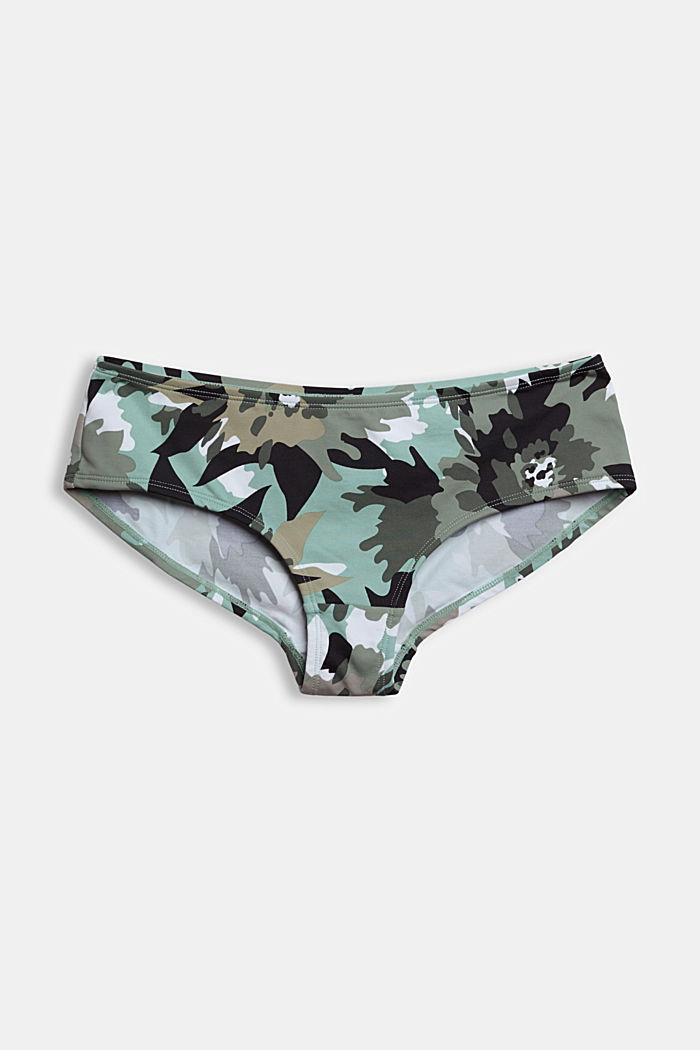 Recycled: Hipster shorts with a camouflage print