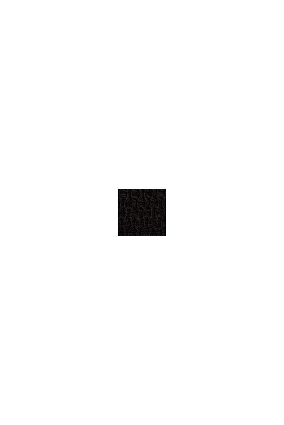 Mini-Slip mit Struktur und Wellenkante, BLACK, swatch