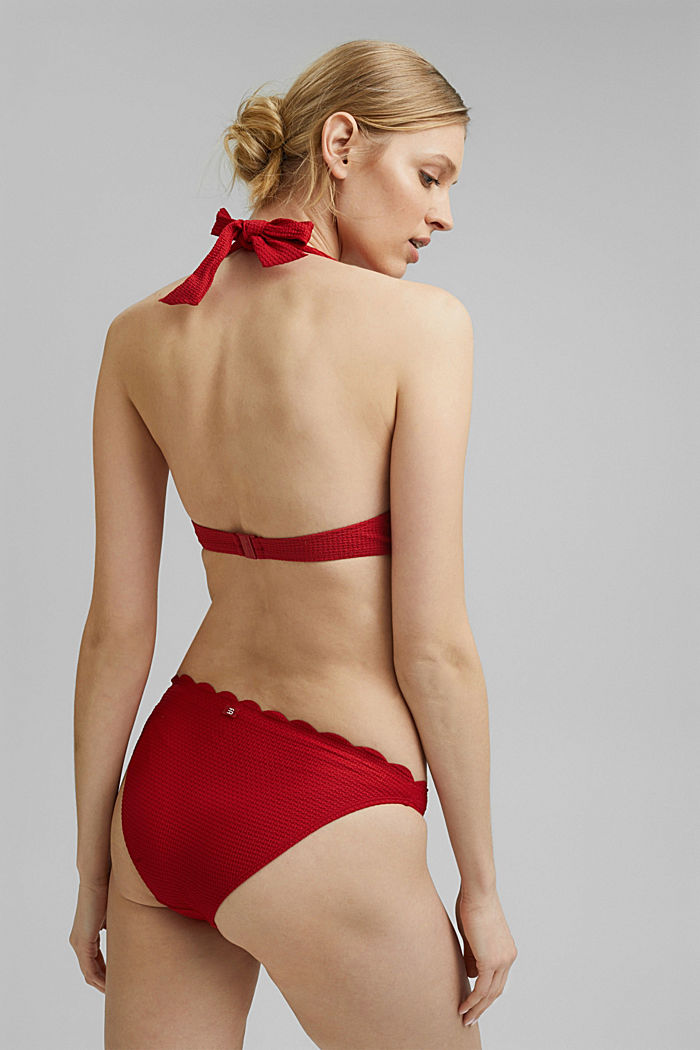 Mini briefs with texture and a wavy edge, RED, detail image number 2