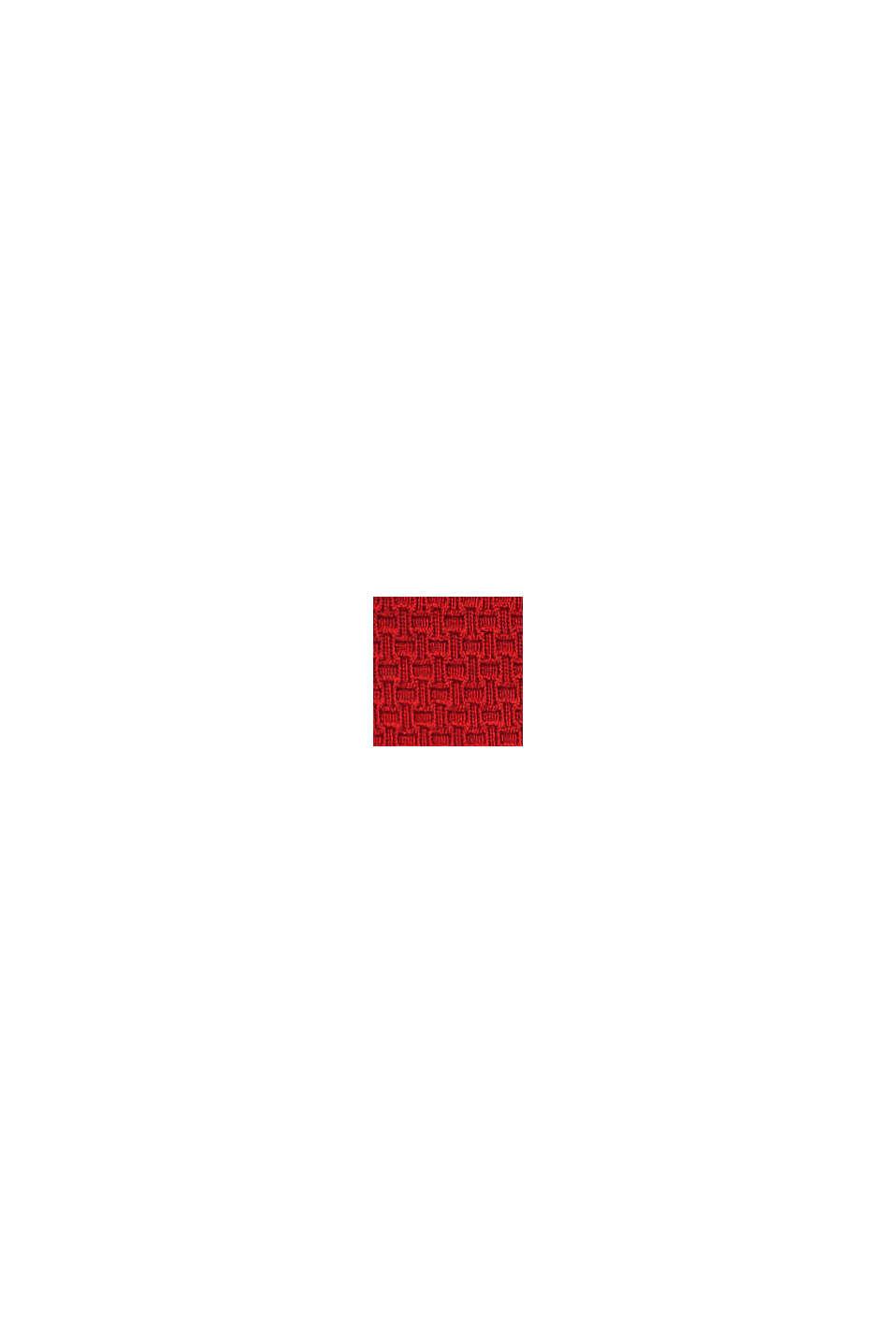 Minitrosa med struktur och vågformad kant, RED, swatch