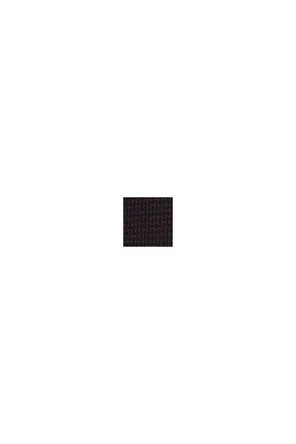 Miditrosa med hög midja och struktur, BLACK, swatch