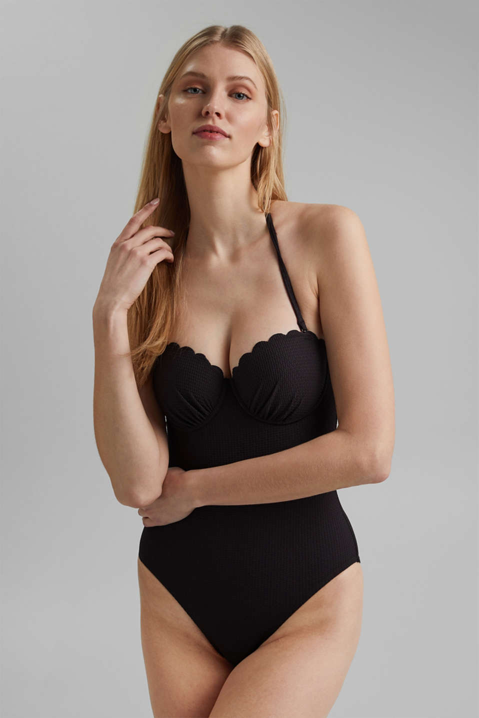 Esprit - Padded swimsuit with texture