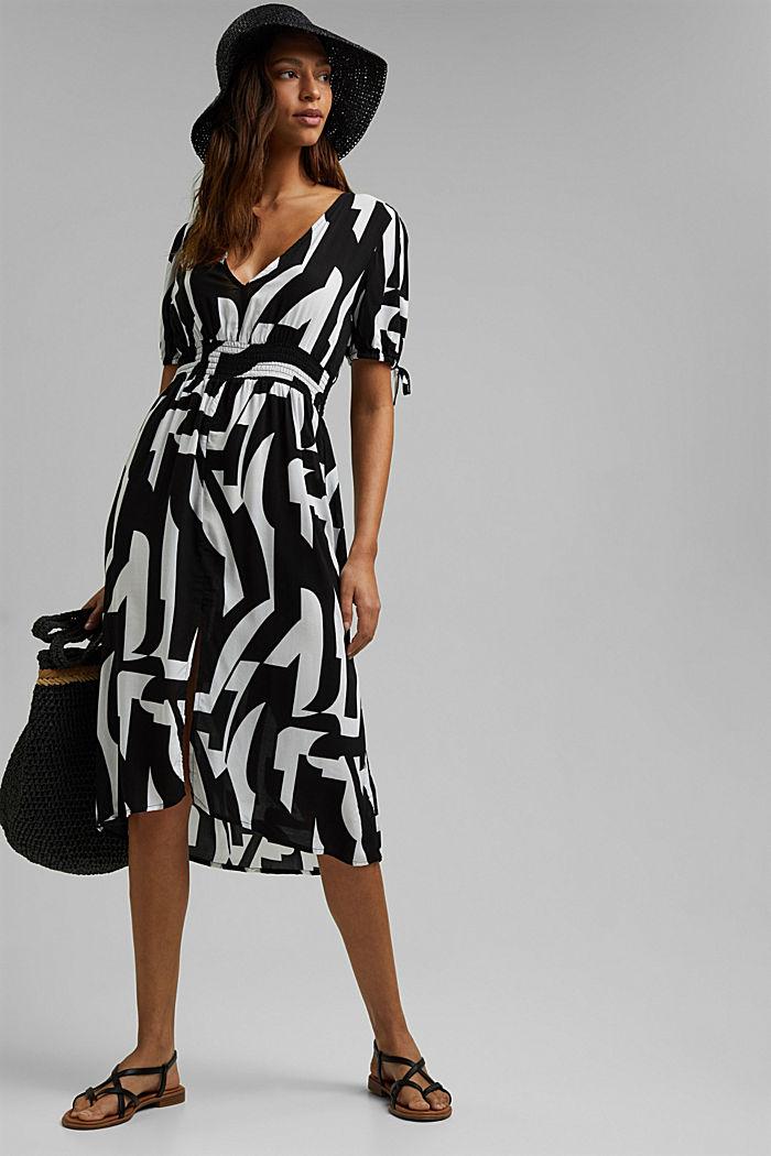 Midi dress made of LENZING™ ECOVERO™, BLACK, detail image number 2
