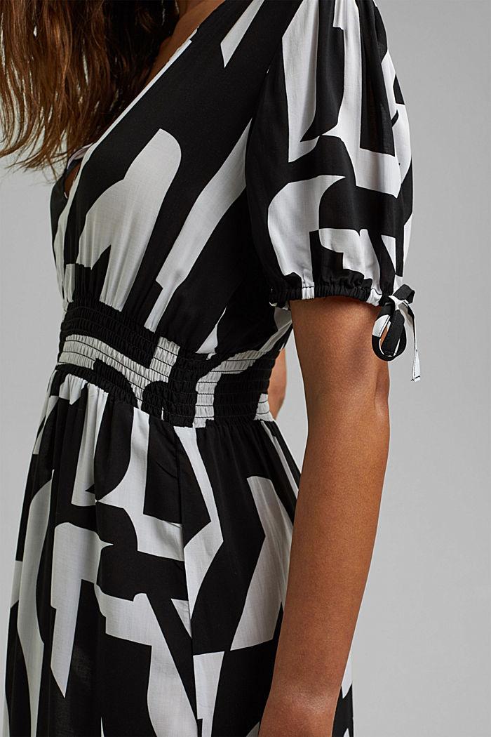 Midi dress made of LENZING™ ECOVERO™, BLACK, detail image number 4